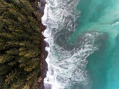 The Power of the West Coast (C McCann) Tags: chinabeach jordanriver westcoast juandefuca strait bc britishcolumbia canada vancovuerisland aerial above dji djiphantom djiphantom4 drone quadcopter overhead lookingdown trees beach wave waves power tidal active