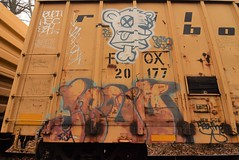 BETSO ? (TheGraffitiHunters) Tags: graffiti graff spray paint street art colorful freight train tracks benching benched boxcar rust betso floater