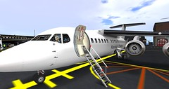 My New Kousara's Charters BAe 146 Aircraft. (anukmaneewong1260) Tags: secondlife aircraft aviation airplane airport terminal bae 146 bristol aerospace airliner airlines kousara charters maid outfit anime nekopara pilot secondlife:region=delchdork secondlife:parcel=delchdorkregionalairportandamusementpark secondlife:x=99 secondlife:y=231 secondlife:z=25 british