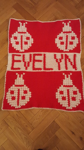 Ladybird blanket for Evelyn