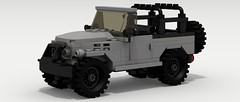 Icon FJ40 (IRL) (LegoGuyTom) Tags: road old city classic wheel japan digital america vintage four japanese drive big power lego offroad 4x4 pov designer 4wd icon off american legos download toyota land cruiser dropbox povray roader offroader lxf 1970's 1960's 1980's