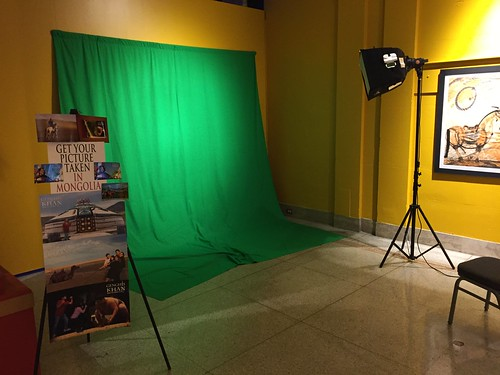 Green Screen at Genghis Khan exhibit by Wesley Fryer, on Flickr
