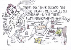 cuidado con las hierbitas! (casimira parabolica) Tags: art illustration comic arte drawing comida cancer dibujo ilustracin transgenicos