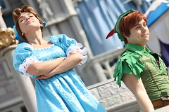 Wendy and Peter Pan (MediumHero6) Tags: face orlando mine florida character parks peterpan disney wdw waltdisneyworld wendy mk magickingdom mainstreetusa cinderellascastle dawm dreamalongwithmickey disneyparks facecharacter