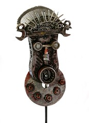Mohan Sudusinghe 2 - Diploma Honours (The Learning Connexion) Tags: sculpture face typewriter 3d junk assemblage steel wrench bearing