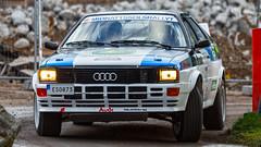Audi quattro at Midnattssolsrallyt / Midnightsunrally 2015 SS1 Rocklunda