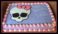 Monster High cake, Triad, NC, www.birthdaycakes4free.com