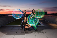 Have you ever seen a sunset like this? (Brendinni) Tags: seattle longexposure sunset lightpainting timeexposure le orbs lightshow hoopers seattlewa showmelights