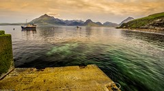 Cuillin view. (AlbOst) Tags: mountains skye boats scotland highlands fishingboats lochs cuillin elgol scottishhighlands blackcuillin scottishcoastlines