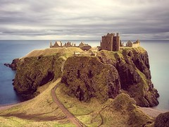 Dunnottar Castle (ShinyPhotoScotland) Tags: longexposure light sky panorama cliff sunlight colour building castle abandoned nature lines rock clouds landscape scotland sandstone aberdeenshire outdoor decay space gimp places rules calm motionblur zen vista colourful geology striking distance toned tranquil imposing cliche lump softlight headland lightanddark stonehaven elegance shapely sidelit conglomerate hugin painteffects leadinglines oldredsandstone rockstone nearfar digikam dunnottarcastle tonemapped skyearth shapeandform rawconversion spacefilling vintagefilm nd1000 enfuse luminancehdr sony1855 darktable photivo digitalbloom motionstationary mankindnature digitalgradnd digitallowpass digitalc2g digitalgmic timefulness