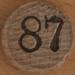 Bingo Number 87 (Leo Reynolds) Tags: xleol30x squaredcircle number numberbingo xsquarex bingo lotto loto houseyhousey housey housie housiehousie numberset 87 sqset119 80s canon eos 40d xx2015xx xxtensxx sqset