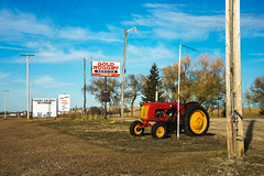 Gold Nugget Service (bryanscott) Tags: erickson manitoba sign signage tractor type typography canada ca