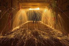 ELECTRIC TUNNEL (JOSE JAVIER GARCIA MARZAL) Tags: fotografíanocturna nightphotography largaexposición longexposure pinturaconluz lightpainting lanadeacero steelwool valencia spain nikond610 nikkor1424f28