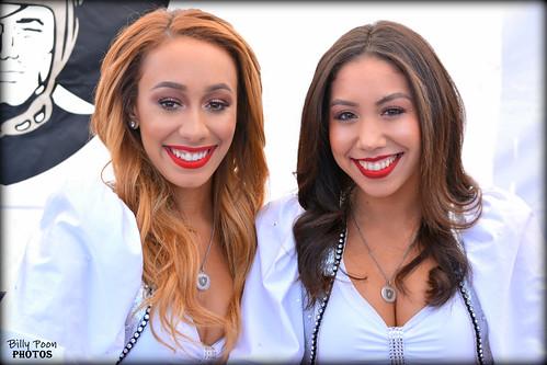 2016 Oakland Raiderettes Cassie & Leilani