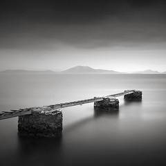A moment with light II (ilias varelas) Tags: light ilias varelas landscape longexposure land sea seascape square water blackandwhite bw mood monochrome mono greece