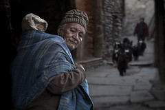 Timeless Mustang (silvia pasqual) Tags: asia asian nepal nepali mustang tibetan village tradition traditional culture street photo photography tibet life everiday cold grandfather child children childhood men yak work people portrait portraiture face human humanty world soul souls travel traveling travelers color colors canon photographer moment capturevillage elderly old age timeless atmosphere family love