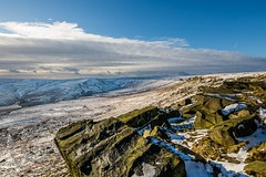 January Snow 2017 031 - Buckstones above Marsden (Mark Schofield @ JB Schofield) Tags: huddersfield pennines pennineway moors moorland peat nationalpark thenationaltrust marsden scammonden pulehill marchhaigh wessenden wessendenvalley meltham wessendenhead reservoir water watershed snow winter landscape bog rock ice outdoors open space panoramic canon 5dmk3 holmemoss mast