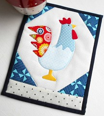 2017 - Year of the Rooster Mug Rug (The Patchsmith) Tags: mug rug mugrug patchsmith patchwork applique patchsmithpatterns