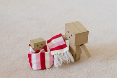 It's the first day of Winter (Arielle.Nadel) Tags: danbo danboard revoltech toyphotography yotsuba firstdayofwinter cute