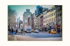9 th. ave (Krasne oci) Tags: newyorkcity people cars bigapple manhattan winter holidays season landscape life evabartos artphotography travel tourism bike truck taxi
