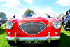 AUSTIN HEALEY 100 : 1954. (tommypatto : ~ IMAGINE.) Tags: oldcars oldvehicles sportscars classiccars britishsportscars red