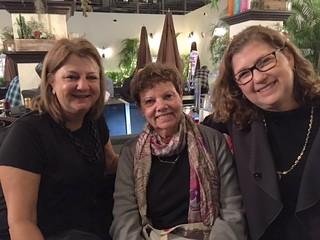 Amy Pollack with Program Comittee members: Carol Damian and Ilana Vardy