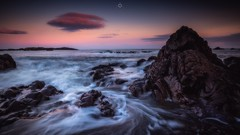 Sweeping and Swirling (Augmented Reality Images (Getty Contributor)) Tags: clouds coastline colours findochty landscape leefilters longexposure morayshire morning rocks scotland seascape sunrise water waves