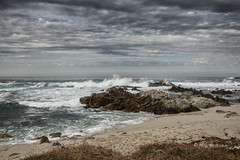 Stormy Day (Rick Derevan) Tags: sky clouds surf ocean beach rocks asilomar pacificgrove california sand storm