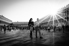 Streets of Venice (_gate_) Tags: venice venedig street italy italien photography nikon d750 20mm 18g ed afs art platz markusplatz la piazza san marco italia holiday august 2016 black white candid sun star sunset