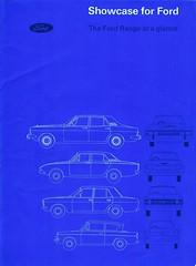 Showcase for Ford Brochure Page 1 (AndehtW) Tags: ford enfo europe england anglia corsair cortina zodiac zephyr abotts farnham 2000e v4 deluxe 1600e super executive showcase for the range at a glance v6 997 1200
