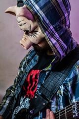 Gindcore Pig! (Júlio Marin) Tags: nikon d7100 cropped crop sensor dx kit lens lente afs nikkor 1855mm f3556g vr ii music musica grindcore grind core costume fantasia show concert live estúdio studio guitarra guitar guitarplayer player maringá paraná pr brazil brasil br