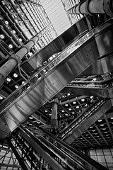 Concrete, Glass & Steel (Future-Echoes) Tags: 4star 2014 architecture building columns concrete glass lights lloyds lloydsoflondon london roof steel