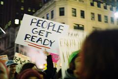 Ready (jonathanbriu) Tags: film nyc protest 16mm fisheye