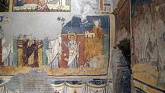 Madonna and Child Enthroned with Saints and Theodotus dedicating Santa Maria Antiqua to her (detail), c. 741-752, Santa Maria Antiqua, Rome