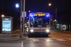 Blue Night Bus (hogtown_blues) Tags: toronto ontario canada dufferinbloor bloorstreet bloorstreetwest bloordale bloordalevillage ttc torontotransportationcommission night afterdark earlymorning bus