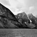 Moraine Lake and the Valley of the Ten Peaks (Black & White)