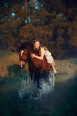 The Legend of Epona (magdalena.russocka) Tags: light sunset horse sun mist colour water fairytale sunrise colours dynamic longhair story fairy mysterious emotional splash legend tale epona emotive mystic narrative storytelling myst