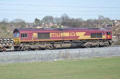 66095 Kingsthorpe 220315 (Dan86401) Tags: northampton gm shed db 660 dbs kingsthorpe generalmotors schenker class66 ews 66095 wilsonscrossing 6r01