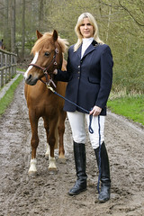 Nicola 15 (The Booted Cat) Tags: horse sexy girl boots riding jacket blonde jodhpur ridingboots equestrienne