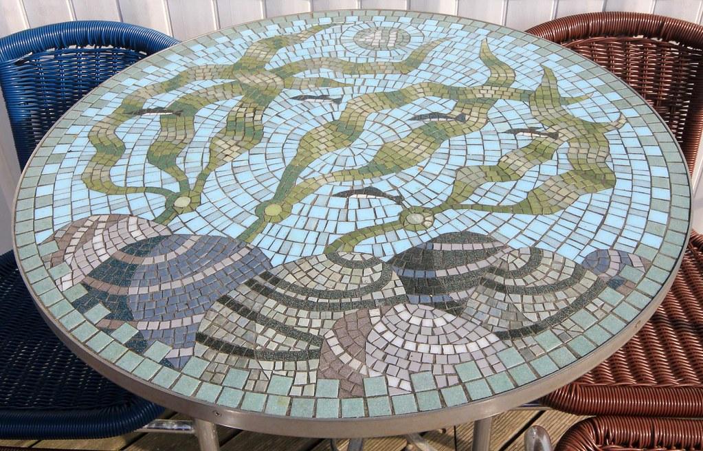 Mosaic Tables, Southwold 13-09-2014
