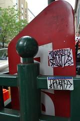 Philly Handstyles on Stickers (MaxTheMightyy) Tags: streetart art philadelphia graffiti sticker stickerart stickers postalsticker vandal vandalism philly slap usps 228 vandals graffitiart slaps postallabel