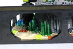 MANTIS HQ (-LittleJohn) Tags: sea water rock mantis boat model waves underwater lego interior craft creation aquatic hq build creature base hover moc