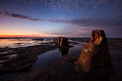 Coledale rockshelf  {Explore 58, 2015/08/04} (David Marriott - Sydney) Tags: morning seascape rock sunrise dawn long exposure australia nsw newsouthwales coledale rockshelf