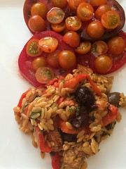 Greek Oregano Chicken and Orzo with Tomatoes in Garlic Oil (htomren) Tags: food chicken tomatoes phonepics orzo halfbakedharvest