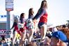 Brooklyn Cyclones Beach Bums (Maxim34374) Tags: girls beach brooklyn island dance pom team cheerleaders baseball crowd bums boardwalk shorts cyclones cheer coney squad minor pep league poms