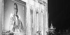 Portrait of the King Bhumiphol. (baddoguy) Tags: bangkok bhumiboladulyadej blackandwhite brokenheart copyspace eternity goldcolored grief horizontal kingroyalperson kingofthailand love majestic mountain night oneperson outdoors panoramic people photography politician portrait respect royalperson sadness spirituality thailand