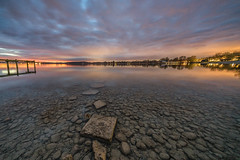 clear water (Robert_Freytag) Tags: water lak lake long exposure filter gnd nd stones sundown sky clouds