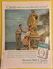 LIFE MAGAZINE JANUARY 19, 1959 ---OASIS MENTHOL MILD CIGARETTE AD, 1959 (woody1778a) Tags: time magazine 1959 advertising ads history historical memories america usa