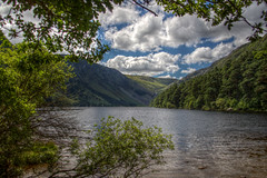 Glendalough Lake (pbr42) Tags: ireland hdr lake valley tree nature water h2o sky cloud wicklow