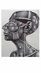 Face-38 (Rebecca_Cruz) Tags: ballpoint pen futurism art futurist drawing